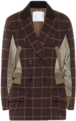 Sacai Checked wool jacket