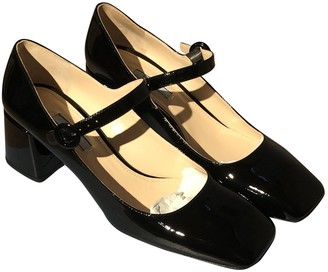 Prada Mary Jane Black Patent leather Heels