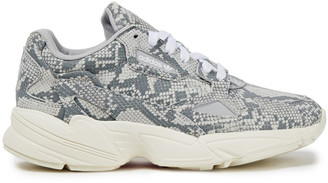 adidas Falcon Snake-effect Leather Sneakers