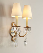 Visual Comfort Yves Crystal Double-Arm Sconce