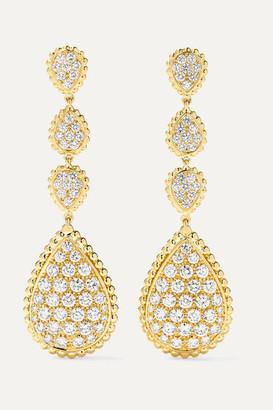 Boucheron Serpent Boheme 18-karat Gold Diamond Earrings - one size