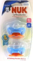 NUK Pacifier, Orthodontic, Silicone, 6-18 M, 2 pacifiers by