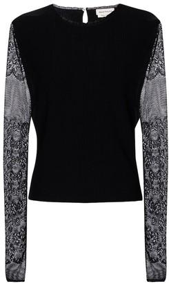 Alexander McQueen Lace knit sweater