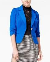 XOXO Juniors' Ruched-Sleeve Blazer