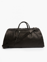 Rick Owens Black Leather Holdall
