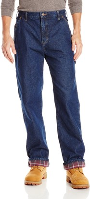 Dickies Men's Relaxed Straight Flannel Lined Carpenter Jean