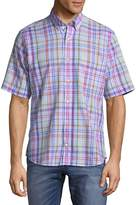 Tailorbyrd Men's Short Sleeve Cotton Button-Down Shirt