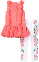 Juicy Couture Ruffle Tunic & Floral Print Legging Set (Little Girls)