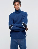 Wood Wood Jaques Roll Neck Sweater Body Stripe