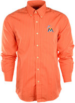 Antigua Men's Long-Sleeve Miami Marlins Button-Down Shirt