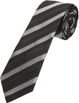 Oxford Silk Tie Pattern Blk/Gry X