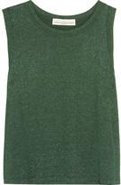 Golden Goose Deluxe Brand Skylar Metallic Knitted Tank - Emerald
