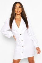 boohoo Button Detail Blazer Dress