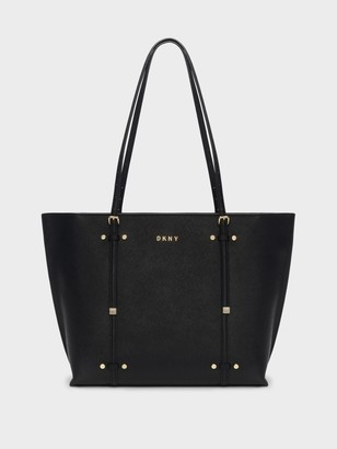DKNY Women's Bo Crosshatched Tote - Black/Gold - Size O/S