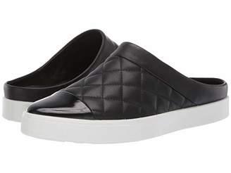 Ecco Gillian Quilted Slide (Black/Black Cow Leather/Cow Leather) Women's Shoes