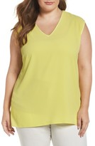 Vince Camuto Plus Size Women's Mixed Media V-Neck Tee
