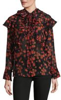 Givenchy Printed Silk Button-Down Top
