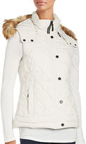 Andrew Marc Faux Fur Trimmed Hooded Puffer Vest