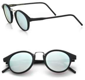 Kyme Frank 46mm Round Pantos Mirror Sunglasses