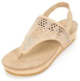 White Mountain Women's Safari Wedge Sandal
