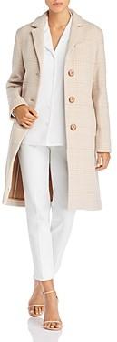 Cinzia Rocca Icons Plaid Wool-Blend Coat