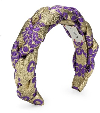Gucci Kids Metallic Sheen Floral Headband