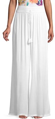 La Moda Clothing High-Waisted Wide-Leg Coverup Pants