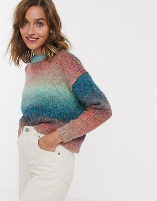 Only space dye brushed jumper-Purple