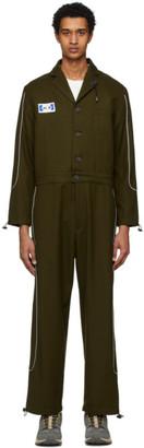 ADER error Khaki Wool Deod Jumpsuit