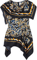 Peter Pilotto Draped Printed Silk-twill Top