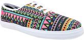 Qupid Pink Geometric Roma Sneaker