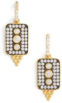 Freida Rothman Women's Contemporary Deco Drop Earrings