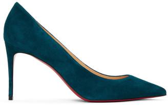 Christian Louboutin Blue Suede Kate 85 Heels