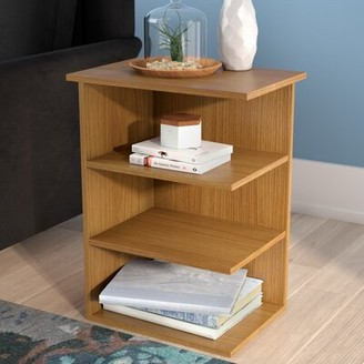 Ebern Designs Galilee Modern 3 Shelf Color: Walnut