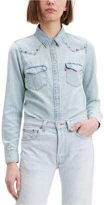 Levi's Women Ultimate Western Embellished Denim Shirt