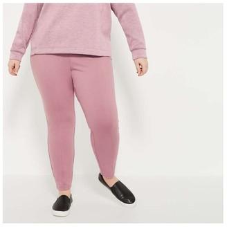 Joe Fresh Women+ Ponte Leggings, Lilac (Size 1X)