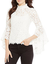 WAYF Citha Lace Bell Sleeve Top
