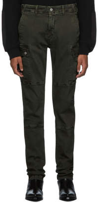 Amiri Green Cotton Cargo Pants