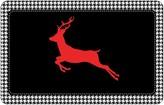 """Bungalow Flooring Reindeer Houndstooth Premium Comfort Mat - 22"""" x 31"""""""