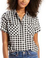 Levi's Women's Short Sleeve Button-Down Top