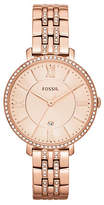 Fossil Jacqueline Three Hand Date Stainless Steel Watch Rose Gold Tone