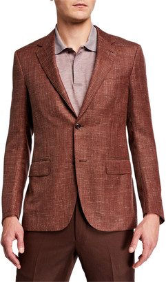 Ermenegildo Zegna Men's Wool-Blend Textured Regular-Fit Blazer