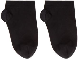 Wolford Black Cotton Sneaker Socks
