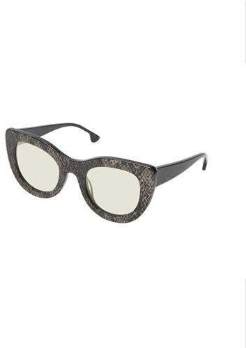 Alice + Olivia Delancey Cat-Eye Snake-Embossed Sunglasses