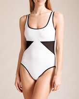Karla Colletto Powernet Round Neck Swimsuit