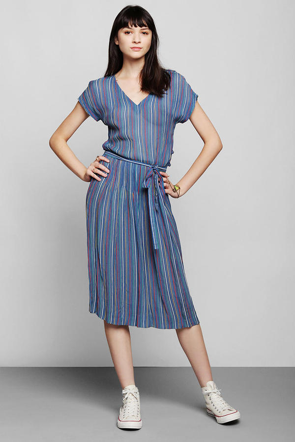 Albert Nipon Vintage '80s Stripe Dress