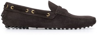 Car Shoe Smooth-Texture Loafers