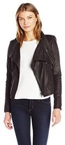 Ark & Co Women's Faux Leather Jacket