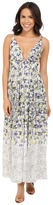 Brigitte Bailey Ailsa Deep-V Floral Print Maxi Dress