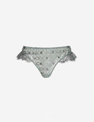 Myla Rosemoor Street metallic lurex-lace briefs